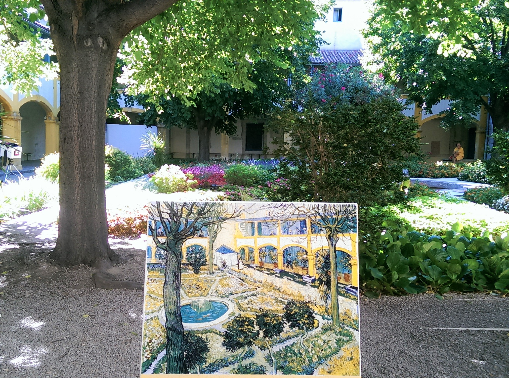 van gogh garden of the hospital arles france